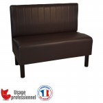 Banquette style BISTROT - COUNTRY chocolat - Piqure sur dossier