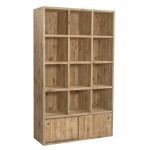 Buffet haut Westside L119 x P45 x H200cm 12 cases + 2 portes coulissantes