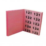 Carnet de tickets  rose et vert - 2 x 500 tickets