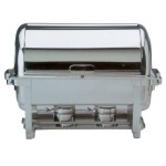 Chafing dish roll top inox