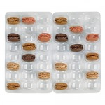 Insert plastique pet transparent 48 (6x8) macarons - par 100