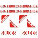 Kit affiches soldes Traditionnel avec angles de vitrines - pack 1