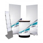 Kit complet de stand d'exposition ''Compact'' - Impression incluse