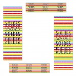 Kit d'affiches soldes rayures multicolores
