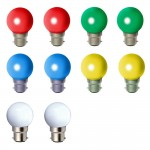 Lampes led  1W B22 couleurs lot de 10