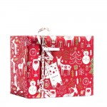 "Papier cadeau ""Happy Santa"" rouge 0,70 x 50 m;"