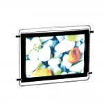 Porte affiche led A4 horizontal double face + 4 pinces