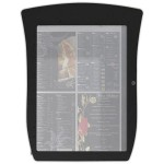 Porte-menu lumineux led mural pvc dandy 4 pages noir