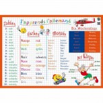 Sous-main et set de table éducatif 30x42 j'apprends l'allemand
